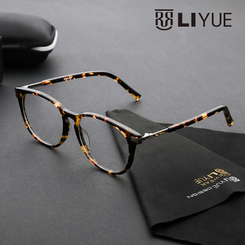 7608f80033 tortoise glasses frames myopia round glasses fashion glasses with clear  lenses mens glasses frames eyewear prescription 5175-in Eyewear Frames from  Apparel ...