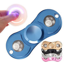 Tri-s Pinner Fidgets 2ไฟledของเล่นTorqbarโลหะผสมEDCประสาทสัมผัสอยู่ไม่สุขเหยื่อสำหรับออทิสติกและเด็ก/ผู้ใหญ่ตลก