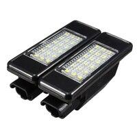 2X Auto Hinten 18 LED SMD Lizenz Nummer Platte Licht Lampe 6000K Für Peugeot 106 207 307 308 Für CITROEN C3 C4 C5 C6 C8