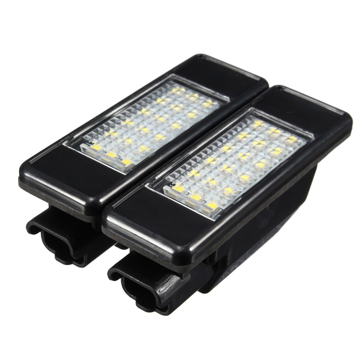 2X Car Rear 18 LED SMD License Number Plate Light Lamp 6000K For Peugeot 106 207 307 308 406 407 508 For CITROEN C3 C4 C5 C6 C8