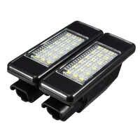 2X voiture arrière 18 LED SMD plaque d'immatriculation lumière lampe 6000K pour Peugeot 106 207 307 308 406 407 508 pour CITROEN C3 C4 C5 C6 C8