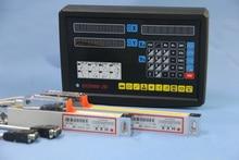 Комплект 2 Оси цифровая индикация УЦИ и 2 шт. цифровой линейные весы для NO3 фрезерный станок 850 мм Х 400 мм стеклянные весы