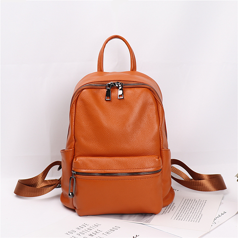 2018 new shoulder bag female bag leather Korean version of the tide simple head suede leather backpack large capacity wild 2017 new fashion leather backpack female korean version of the street stream simple leisure travel bag bag shoulder bag leather