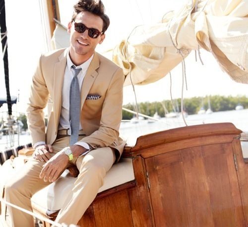 Summer Style Champagne Suits For Men 2 Pieces(Jacket+Pants+Tie ...