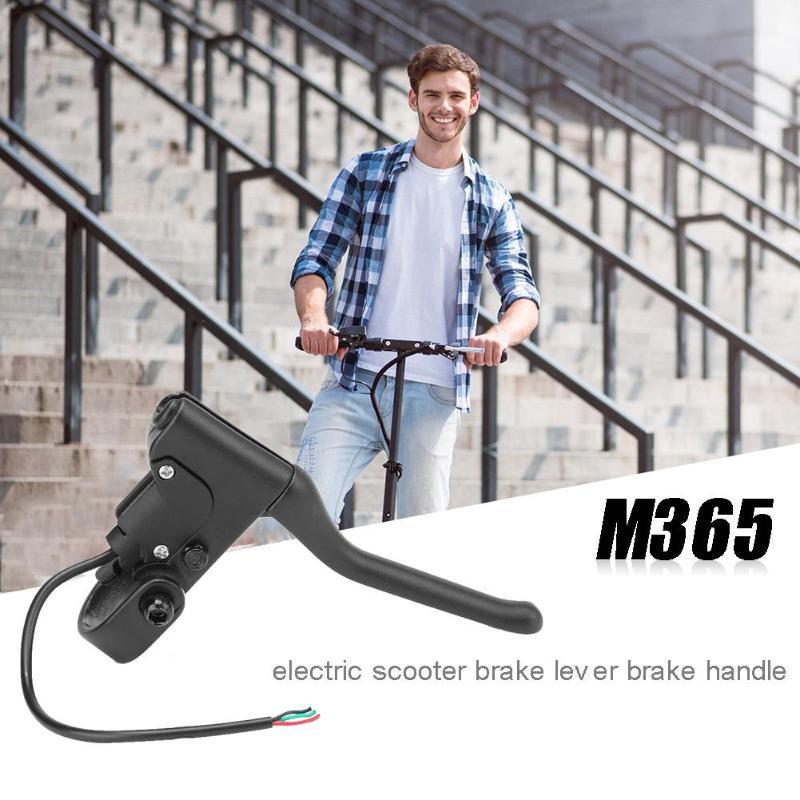 Scooter elétrico alça de freio com linha para xiaomi mijia m365 pro liga alumínio alavanca do freio skate equitação acessórios