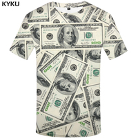 KYKU Brand Dollar T Shirt Women Money Tshirt 3d Print T-Shirt Funny T Shirts Hip Hop Tee Cool Womens Clothing 2019 Casual Tops