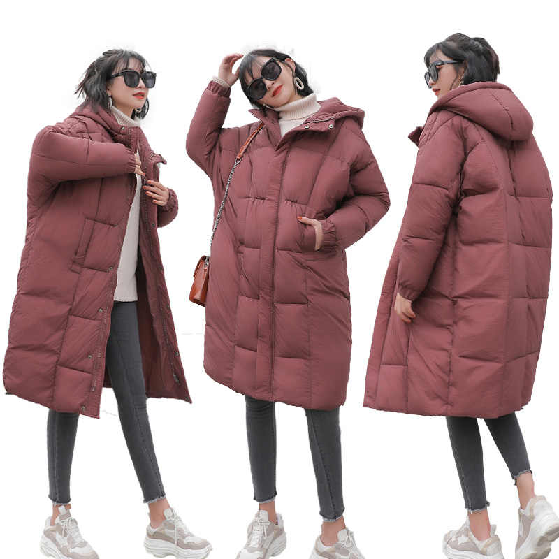 Women Winter Parkas Cotton Jacket 2018 New Large Size Thick Warm Coat Mid Long Hooded Coats Female Light Fluffy Outerwear DT0275