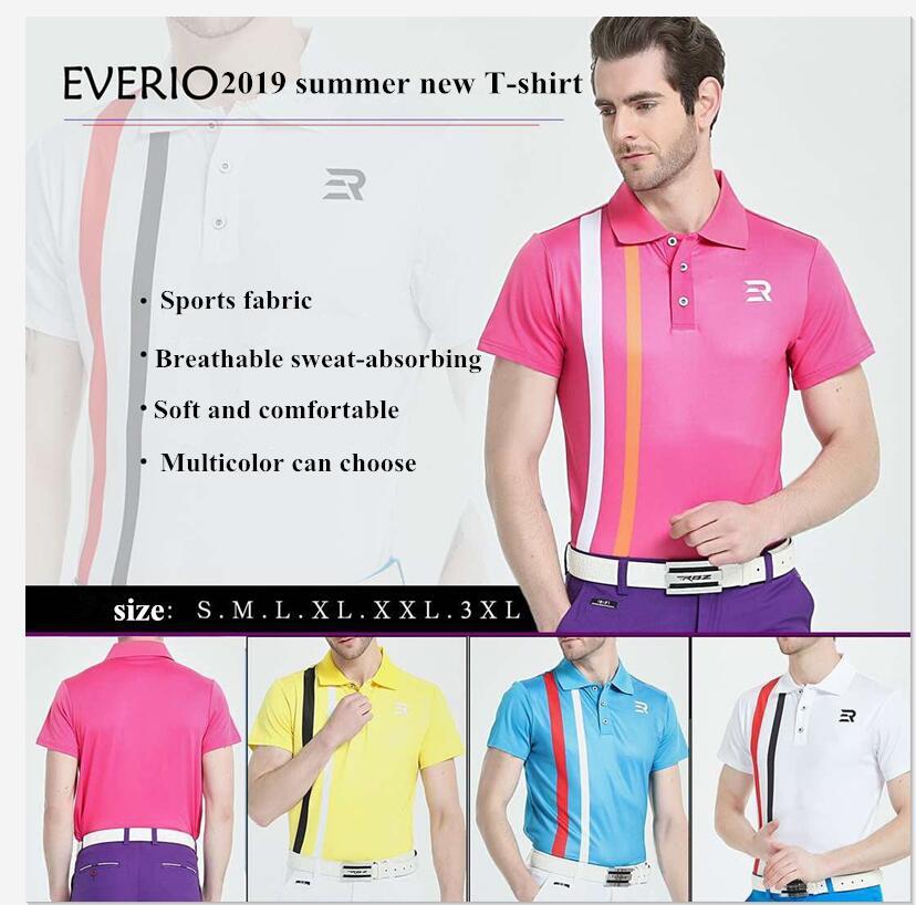2019 vêtements de golf printemps été hommes à manches courtes T-shirt de haute qualité mince mince respirant séchage rapide Golf haut de sport chemises