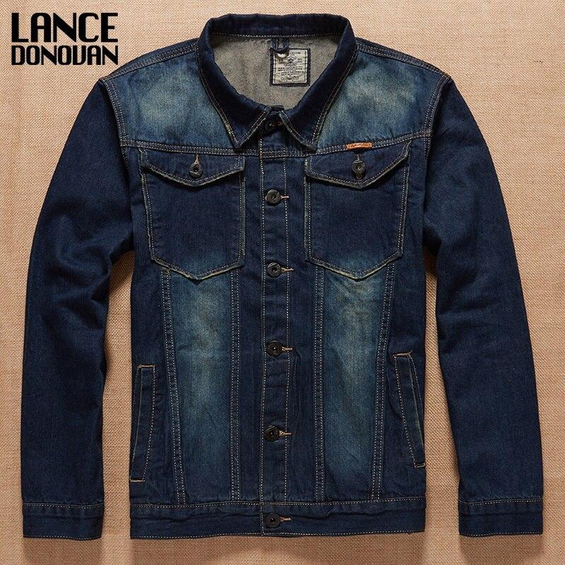 Denim Jeans Jacket New 2017 Spring Clothing Plus size L - 7XL biggest Chest 145cm