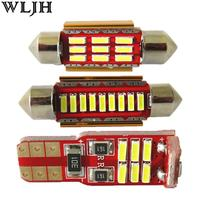 Wljh 9x 순수 화이트 아이스 블루 canbus w5w 36 미리메터 c5w 41 미리메터 빛 LED 인테리어 패키