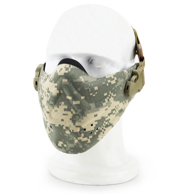 Super Light Half Face Tactical Mask Camouflage Tactical Mask Outdoor Military Wargame Paintball Airsoft Tactical Half Face Mask