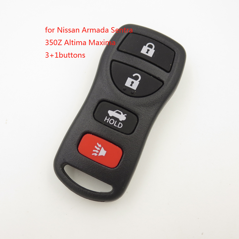 US $2 0 16% OFF|4 Buttons Key FOB Remote Shell Case fits Nissan Infiniti  G35 2003 2004 2005 2006 NO LOGO Cocolockey-in Car Key from Automobiles &