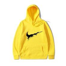Fashion brand Hip Hop Men Hoodies casual hooded Funny printing Sweatshirt 2019 Suprem Male Hoody Jackets