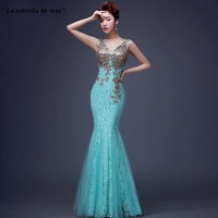 Vestido madrinha 2019 new lace V neck embroidery sexy mermaid turquoise royal blue peach burgundy bridesmaid dresses long