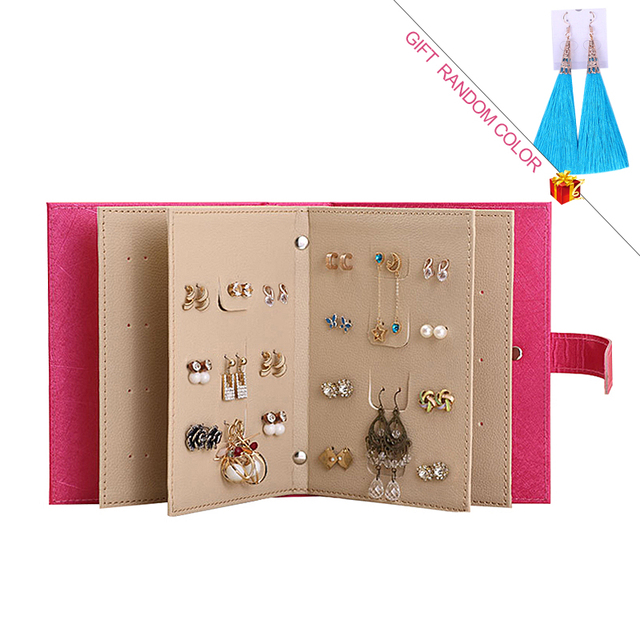 Makeup Organizers Portable Fashion Women Earrings Collection Necklace Jewelry Book