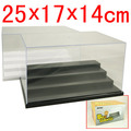 3 & 4 Steps Clear UV Acrylic Plastic Display Box Case Plastic Box Dustproof Protection Showcase Case Dollhouse Action Figure Toy