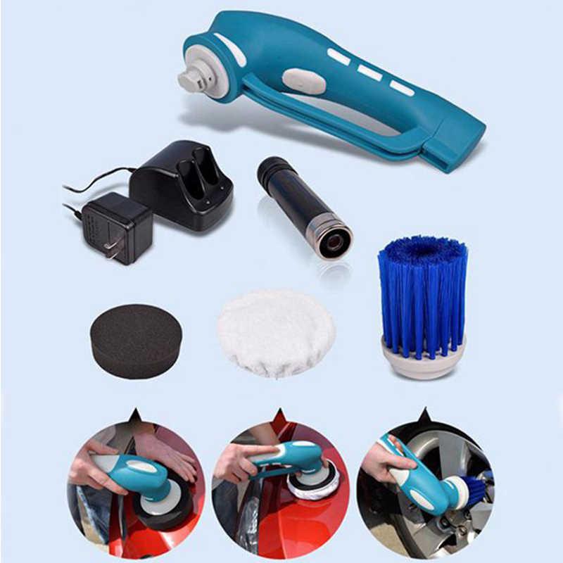 Полировка автомобиля, мини беспроводной автомобильный полировщик ручной Электрический палесос для автомобиля машина водонепроницаемый Набор инструментов US Plug (синий)