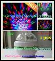 Envío Gratis A Todo Color 3 W E27 RGB LED de Cristal Pequeño Magia Lámpara giratoria bola de Luz Giratoria de DJ etapa del partido del Bulbo decoración de la Barra