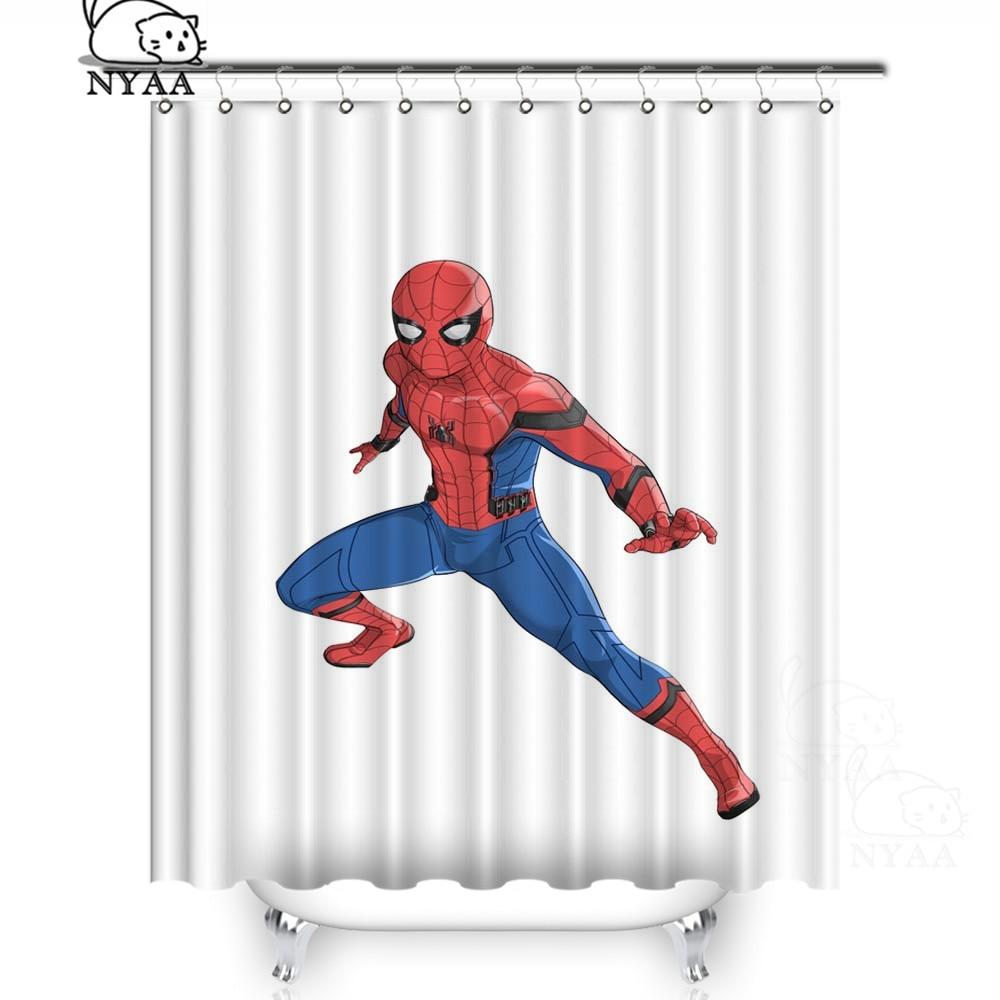new spiderman fabric shower curtain