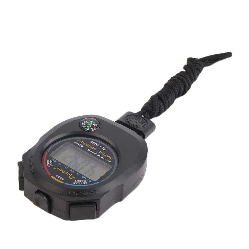 Sport cronometro digitale professionale palmare digitale LCD - Strumenti di misura - Fotografia 2