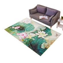 3D Carpet for Living Room Mat Rug Chinese Style Flower Bird Sofa Large Carpets Study/Bedroom Bedside/Balcony Home Decoration