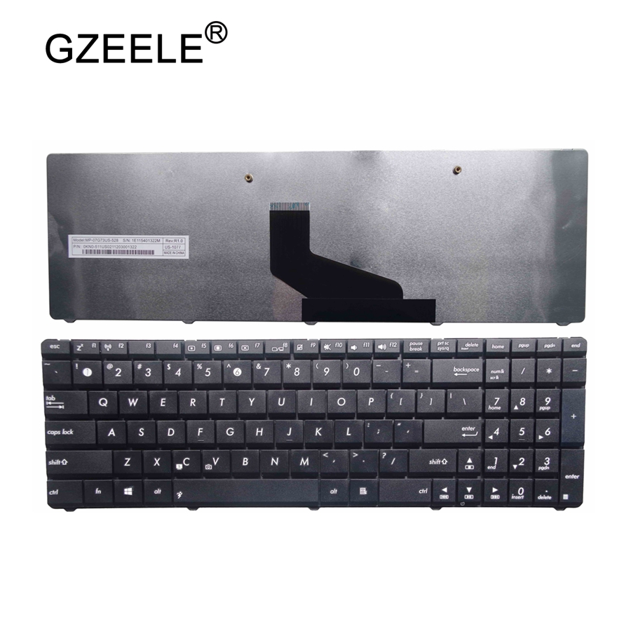 GZEELE New FOR ASUS K53U K53Z K53B K53BR X53BY X53U X73 N73 K73 K73T A53U K53T K53T X53Z X53BR X53E A53U English Laptop Keyboard