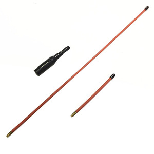 Image 1 - Red OPX772 dual band high gain antenna 144/430MHZ SMA M for YAESU UV5R UV6R UV7R UV985 TYT 8000D walkie talkie