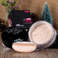 Novo Face Make Up Loose Powder Matte Finishing Makeup Oil-control Long Lasting Skin Transparent Powder Minerals SPF25 with Puff