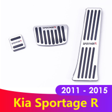 цена на Aluminum allo Car Styling Accelerator Gas Pedal Brake Pedal Cover AT For KIA Sportage 3rd 2011 2012 2013 2014 2015 Accessories