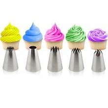5 unids Gran Conjunto Crema Boquilla Icing Piping Pastelería Consejos Cake Decorating Herramientas Para Hornear Sugarcraft