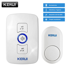 KERUI kablosuz ev kapı zili su geçirmez düğme mekanik düğme uzun mesafe bağlantı seçilebilir zil sesi kurulumu kolay