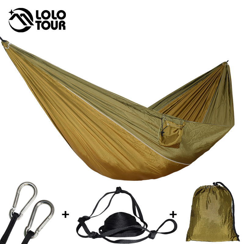 Reasonable 1-2 Person Outdoor Camping Hammock With Mosquito Net Portable Parachute Hanging Bed Hunting Sleeping Swing For Travel Yard Bedding Home Textile