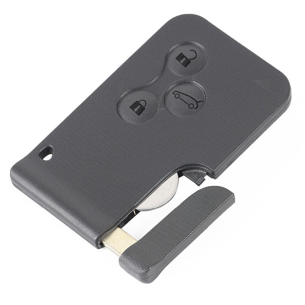 KEYECU for 5PCS KYDZ Renault Megane 3button remote FSK433MHz 7926ATTchip without LG Removable Upgraded version
