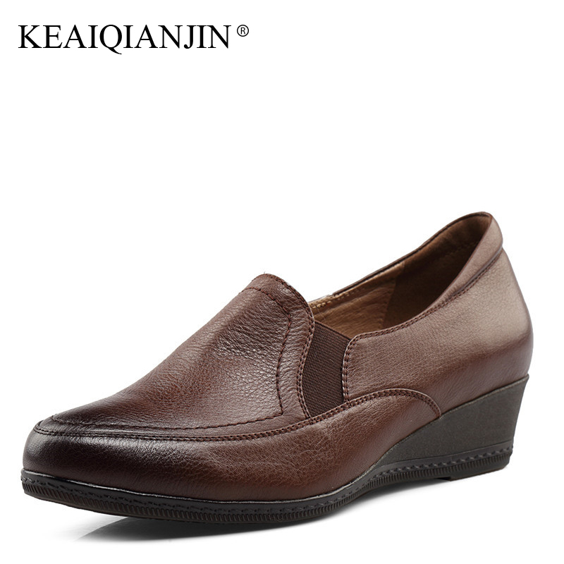 KEAIQIANJIN Genuine Leather Loafers Women Spring Autumn Black Brown Casual Shoes Plus Size Genuine Leather Flats Oxfords Women конструктор конструктор забияка крокодил 1305717