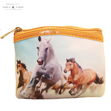 Rainbowgirl 2017 new coin purse horse style purse animal picture women purse small coin women bag wallet for children