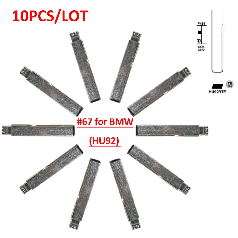 Free Shipping (10 Pcs/lot)Metal Blank Uncut Flip KD Remote Key Blade Type HU92 Blade