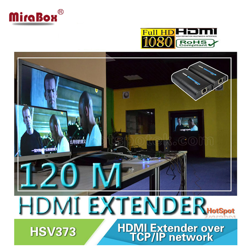 HDMI Extender Cat5/Cat5e/Cat6 120m HDMI Extender UTP/STP Support 1080P With 1 Sender and 3 Receivers