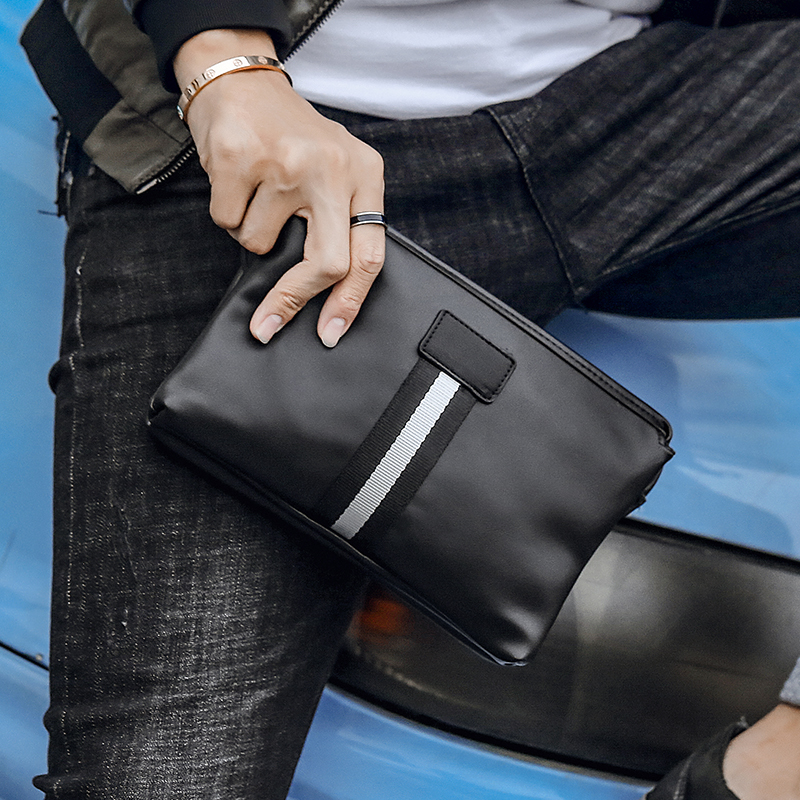 Tidog Street Leather Man's Handbag Clutch Bag