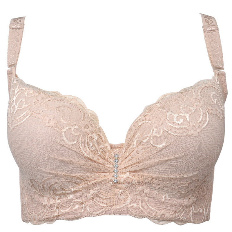 Large Size Bra Cup Thin Section Adjustable Gather Side Income Furu Ms. Fat MM Large Cup D Cup E Cup Underwear