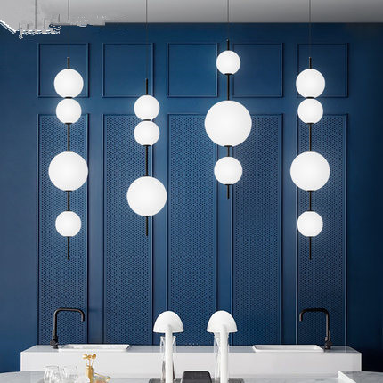 Image 2 - Modern LED Pendant Lamps Hanging Lamps Restaurant Gourd Pendant Lights Cafe Bar Bedroom Kitchen Dining Room Glass Deco Fixtures-in Pendant Lights from Lights & Lighting