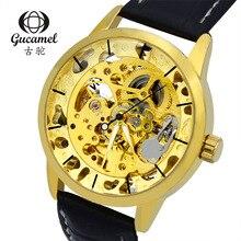 Gucamel часы поставка фабрики оптовая высокого класса мужчин вскользь часы полый автоматические механические часы горячие 50ATM Водонепроницаемый