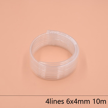 4 Lines eco solvent printer ink tube 6X4MM for Epson Allwin Mimaki Roland Mutoh ink hose 10M/lot Large ink supply ink system 4mm turn to 2mm eco solvent printer allwin galaxy xuli roland mimaki mutoh plastic ink hose connectors straight shape fitting 20