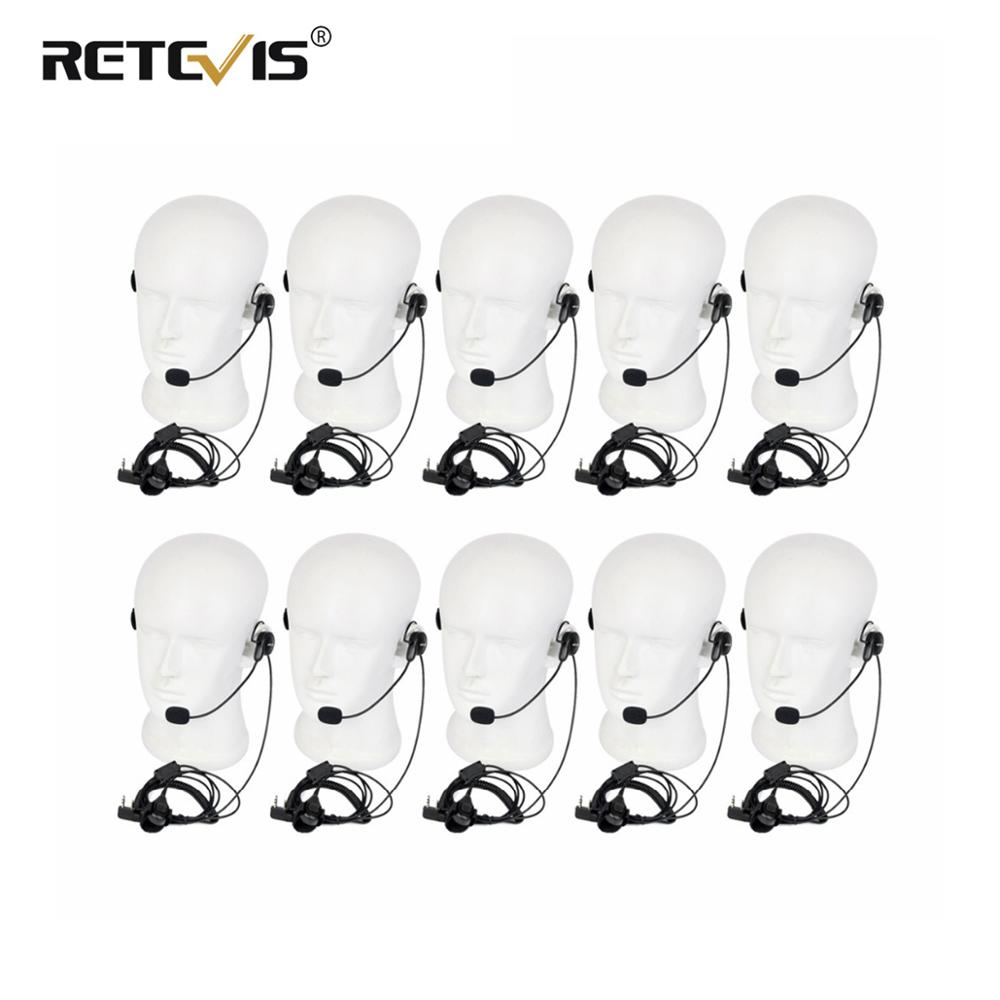 10pcs Walkie Talkie Headset Finger PTT Soft Microphone Earpiece For Kenwood For Baofeng UV-5R 888S Retevis RT5R H777