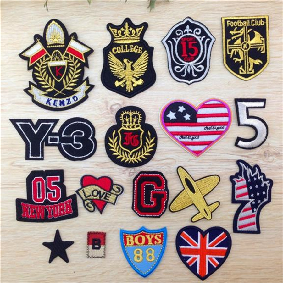 Embroidery badge iron on patches for clothing deal with it
