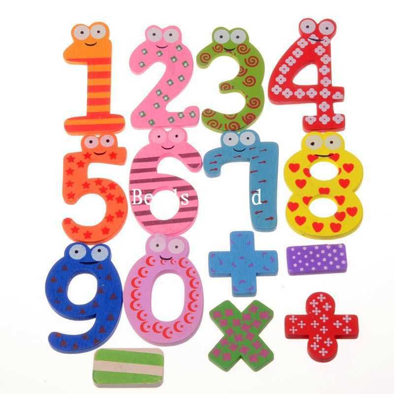 15 шт. номер 1-9 номер Деревянный магнит на холодильник Образование ЖЖ милые детские игрушки украшения дома 19 -60 мм (W04461 x 1)