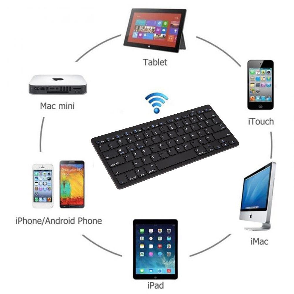 Multimeedia Juhtmeta Bluetooth 3.0 klaviatuur Androidile iOS Tablet - Arvuti välisseadmed - Foto 2