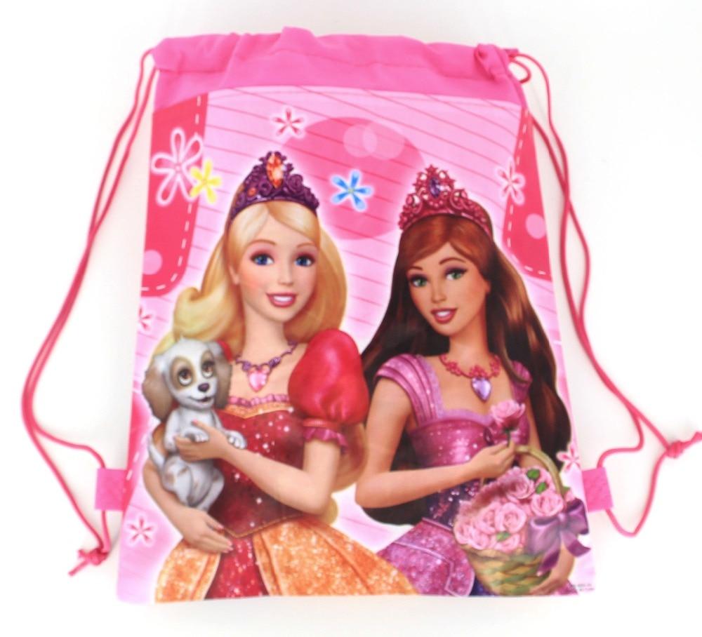 20pcs cartoon bobby doll non-woven bag fabrics drawstring backpack,schoolbag,shopping gift bag