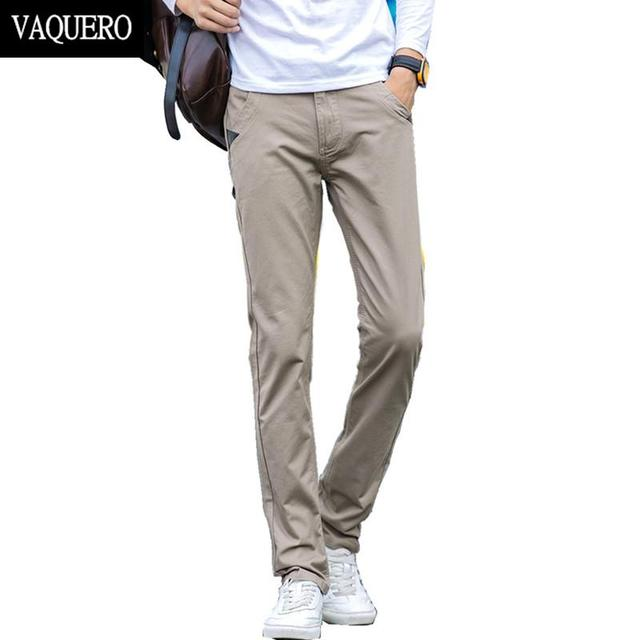 Mens Basic Style Twill Pants Casual Classic 100%Cotton No Stretch Regular Slim Fit Chinos Trousers Size 28-38