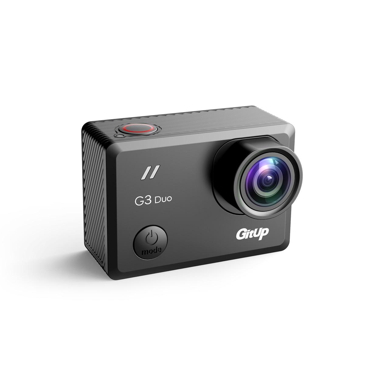 2018 Новый Gitup G3 Duo 2 К 12MP 2160 P Спорт действий Камера 2,0 Touch ЖК дисплей Экран гироскопа 170 градусов Портативный камеры дополнительно gps раб