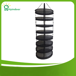 8 Tiers Diameter 60cm Detachable Harvest Dry Rack Wire mesh Laundry Bags Hanging Herb Drying Clothes Basket